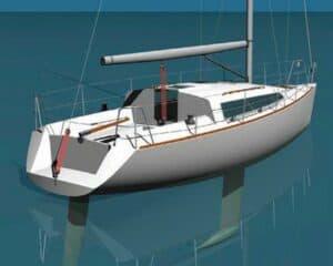 sailboat model using surface